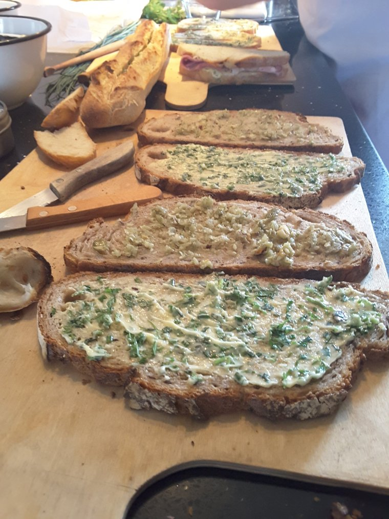 Herbed Butter and Ham Sandwiches  - Anne is Cooking