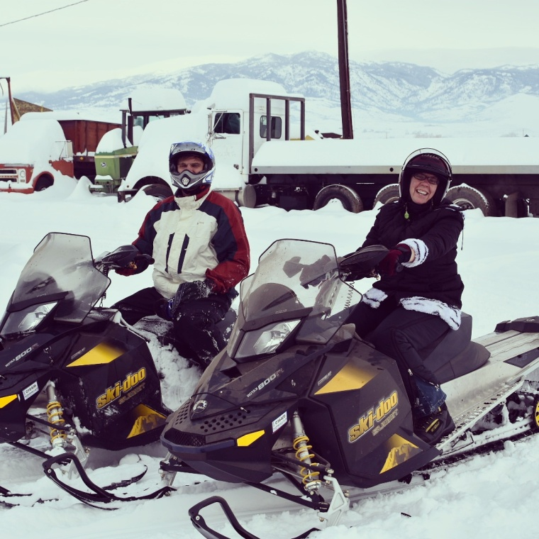 Snowmobiling at the Sachtjen Farm